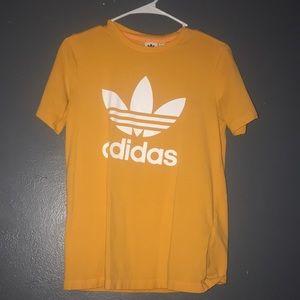 addidas small yellow & turquoise shirt original